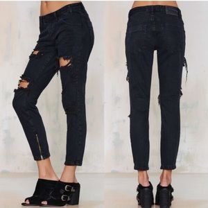 One Teaspoon Jeans - One teaspoon fox black freebirds